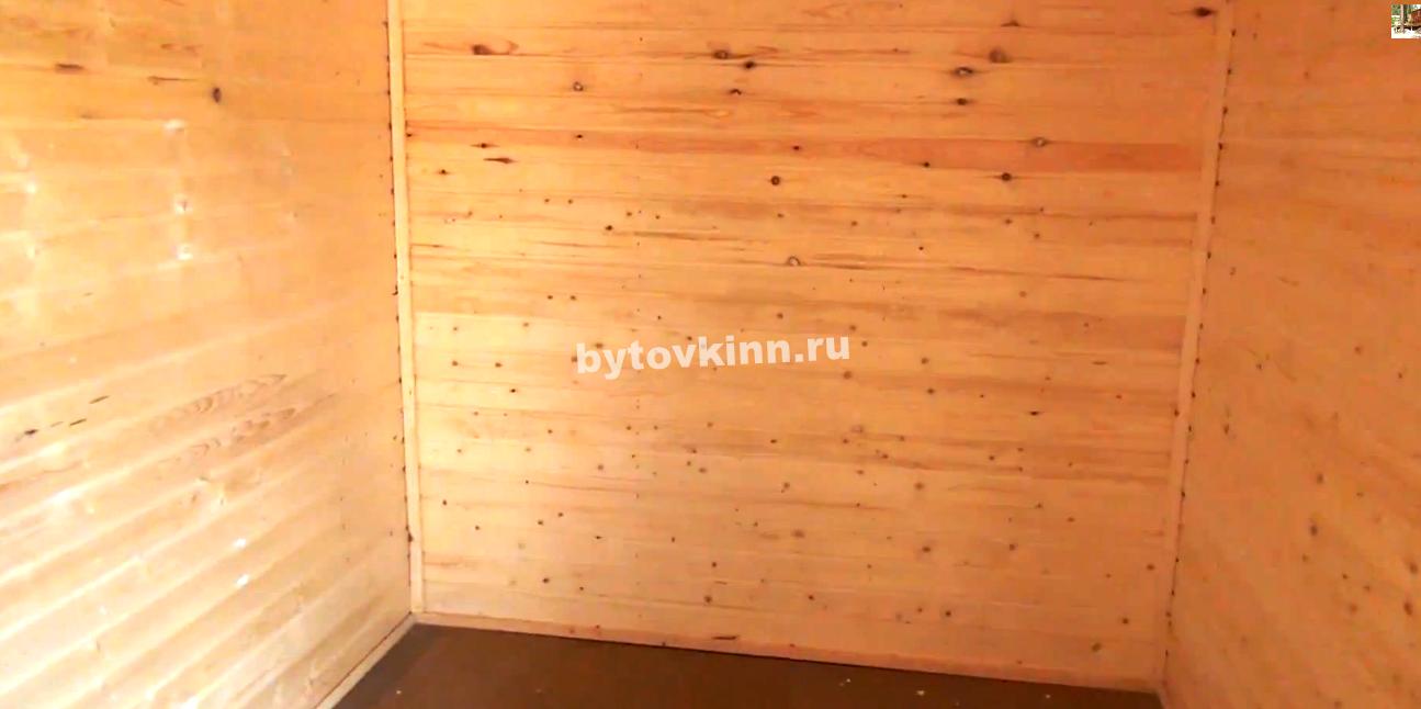 Внутренняя отделка деревянной бытовки из вагонки